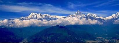 Annapurna Nepal Region Trek Range Trekking Valley