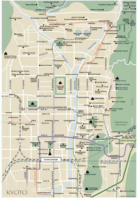 kyoto city map kyoto japan mappery