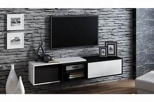 Meuble Sous Tv Suspendu : meuble tv suspendu ligna chloe design ~ Teatrodelosmanantiales.com Idées de Décoration