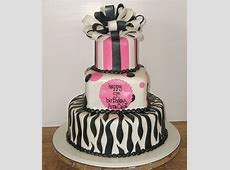 3 tier birthday cake with zebra patterns and bowJPG 2
