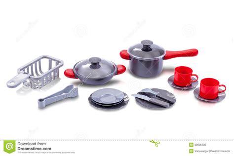 jouet de cuisine ensemble de jouet d 39 ustensile de cuisine image stock