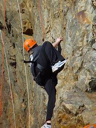 Climbing Silhouette Rock Climber