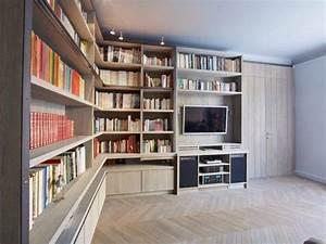 Aménagement Bibliothèque : am nagement int rieur une biblioth que d 39 b niste pour sublimer un salon bibliotheque1 ~ Carolinahurricanesstore.com Idées de Décoration