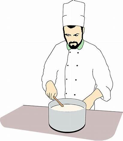 Chef Stirring Pot Illustration