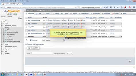 How To Remove Database Phpmyadmin Xampp