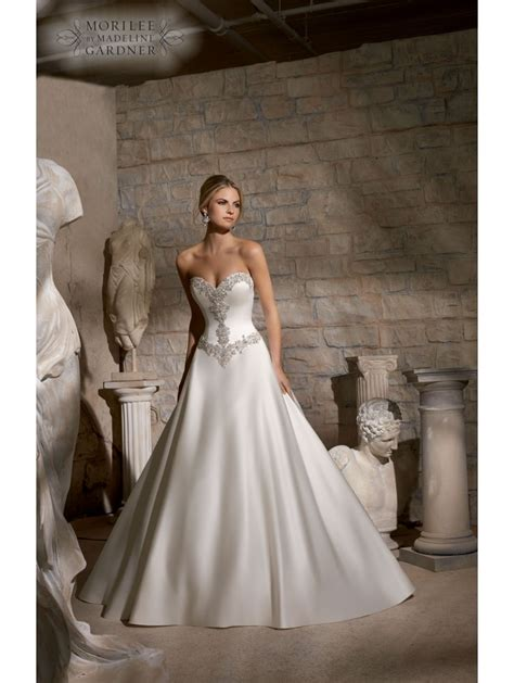 Mori Lee 2703 Crystal Detail Ball Gown Wedding Dress Ivory