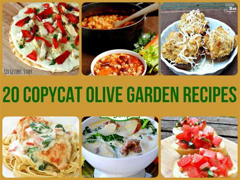 home garden recipes 20 copycat olive garden recipes