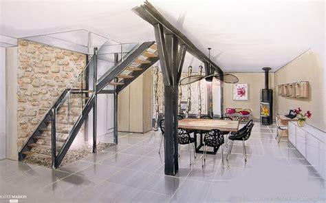 cuisine avec bar ouvert sur salon rénovation d 39 une ère avec cuisine ouverte am esquisse côté maison