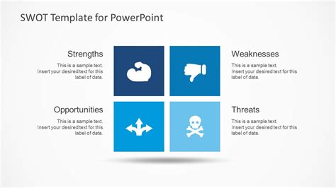 simple swot powerpoint template slidemodel