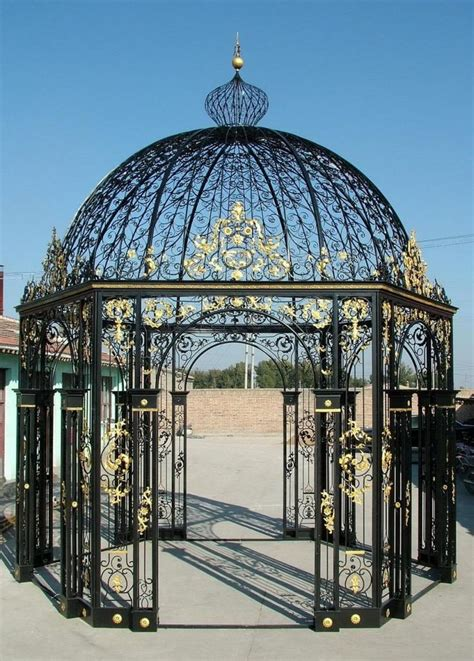 hexagon shaped iron victorian gazebo domed top includes tempered glass victorian gazebo