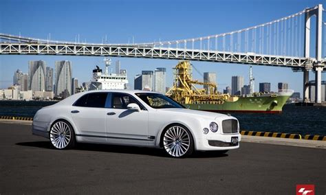 white bentley mulsanne  custom lexani lz