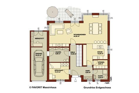 Einfamilienhaus Mit Integrierter Doppelgarage Grundriss by Haus Mit Integrierter Garage Grundriss