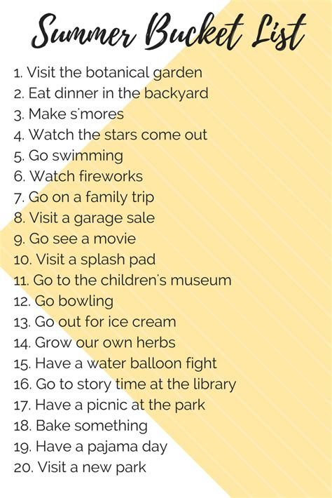 bucket list kid friendly summer list renovations