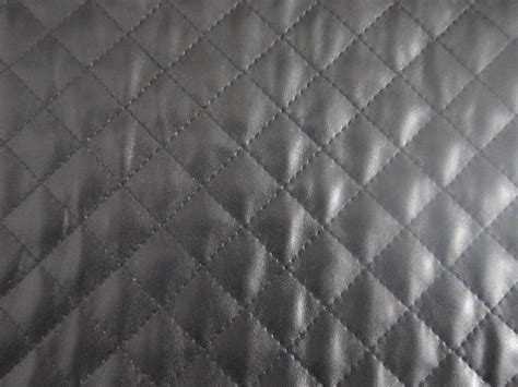 quilted leather fabric black quilted faux leather fabric by the yard or half yard