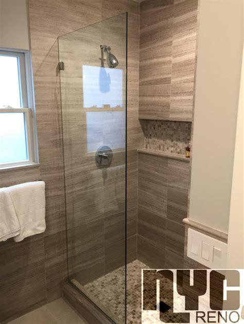 stationary screen custom glass shower doors nyc reno