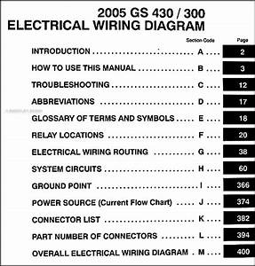 2005 Lexus Gs 300  U0026 Gs 430 Wiring Diagram Manual Original
