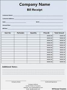 Receipt templates free word39s templates for Bill receipt template