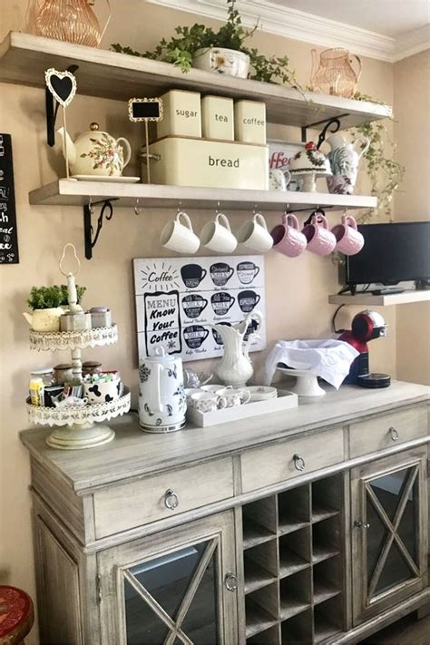 Kitchen counter coffee station inspiration kitchen coffee bars and coffee stations have become more and more popular over the past couple of years. DIY Coffee Bar Ideas - Stunning Farmhouse Style Beverage Stations for Small Spaces and Tiny ...