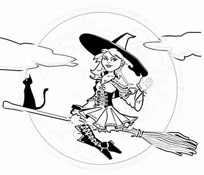 Witch Coloring Sheet Modern Pages Halloween Fashiion