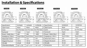 New Pyle Plpw6d 6 5 U0026 39  U0026 39  600 Watt Dual Voice Coil 4 Ohm