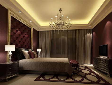 Elegant Bedroom Warm Colours European Style Warm Bedroom