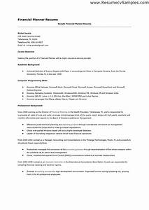 financial planner resume resume ideas With financial advisor cover letter entry level