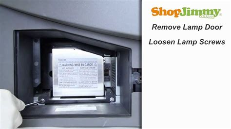 tb25 lmp replacement l at best buy toshiba tb25 lmp l replacement guide for dlp tv youtube