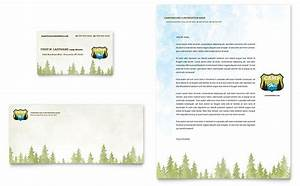 Newsletter Templates In Publisher Nature Camping Hiking Business Card Letterhead