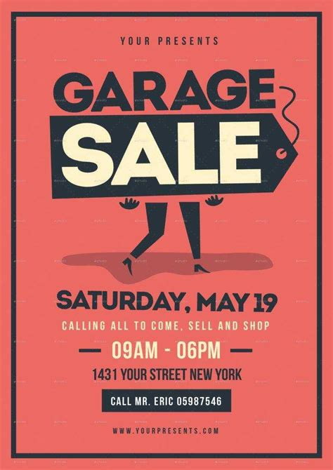 Yard Sale Flyer Template Word - Professional Plan Templates
