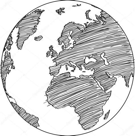 world map earth globe vector  sketched  illustrator