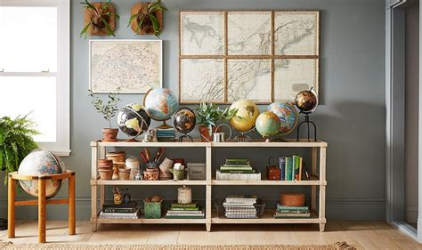 4 Inspiring Ideas For Decorating With Maps And Globes