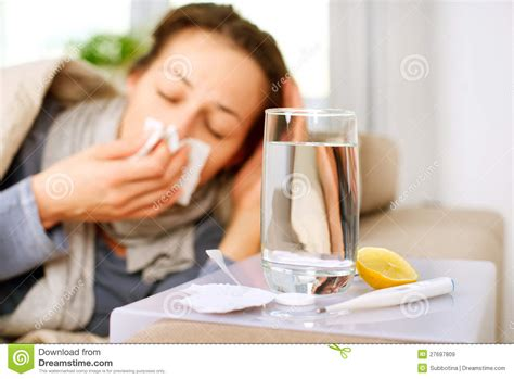 Sick Woman Flu Royalty Free Stock Images Image 27697809