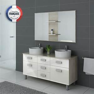 Meuble De Salle : meuble de salle de bain double vasque ref dis911sc b ~ Nature-et-papiers.com Idées de Décoration