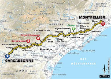 Carte Sud Montpellier by Etappe 11 Carcassonne Montpellier Tour De