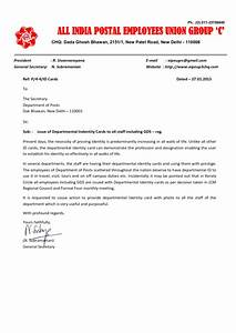 aipeup3tn issue of departmental identity card to all With request letter for id card