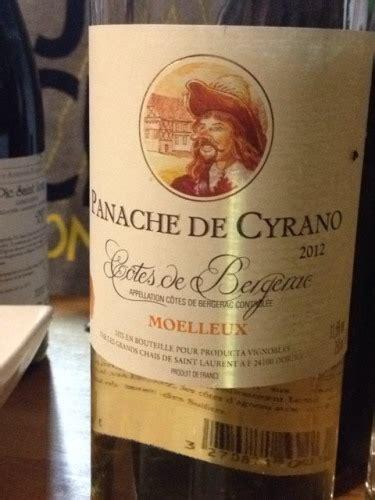 les grands chais de les grands chais de laurent côtes de bergerac panache de cyrano 2012 wine info