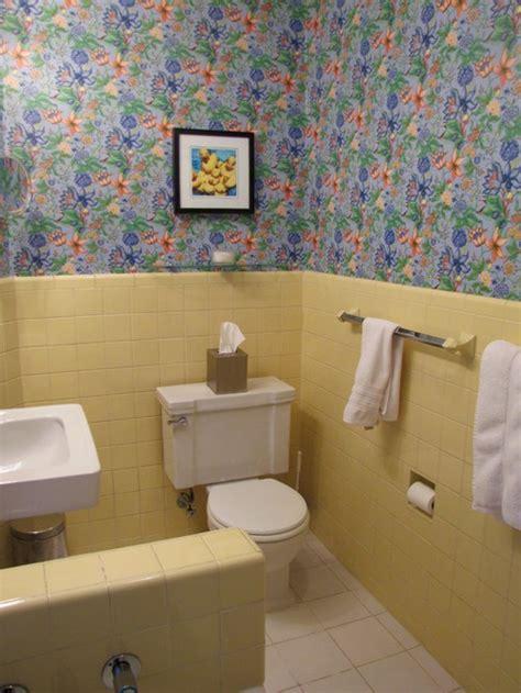 Yellow Tiles Bathroom by Vintage Yellow Tile Bathroom