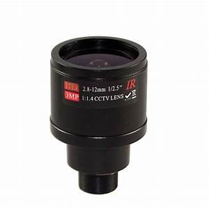 3mp M12 Hd Manual Fixed 2 8 12mm Varifocal Lens F1   1 4