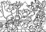 Coloring Pages Wild Animals Animal sketch template