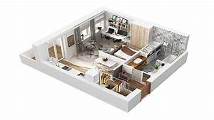 40 Square Meter Apartment Design in Rome, 3D - YouTube