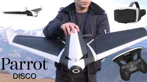 parrot disco fpv drone impressions youtube
