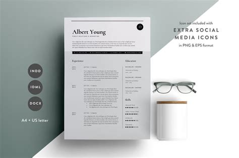 Resume Template 3 Page  Cv Template  Indd + Docx By