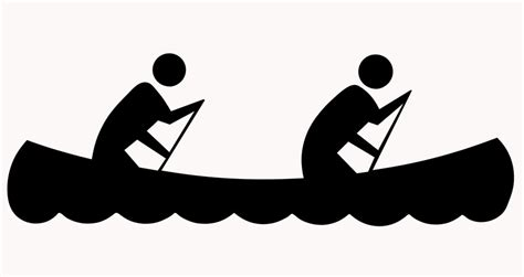 Canoe Boat Clipart by Paddling Clipart