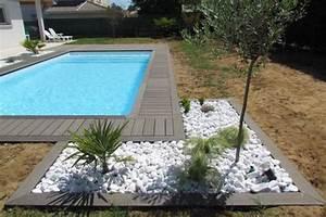 plage de piscine et galets france jardin pinterest With superior amenagement jardin avec galets 1 amenagement paysager avec terrasse en bois composite