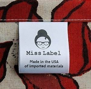 clothing labels 100 satin custom printed fast by misslabel With clothing labels canada