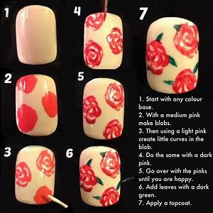 Best ideas about rose nail art on