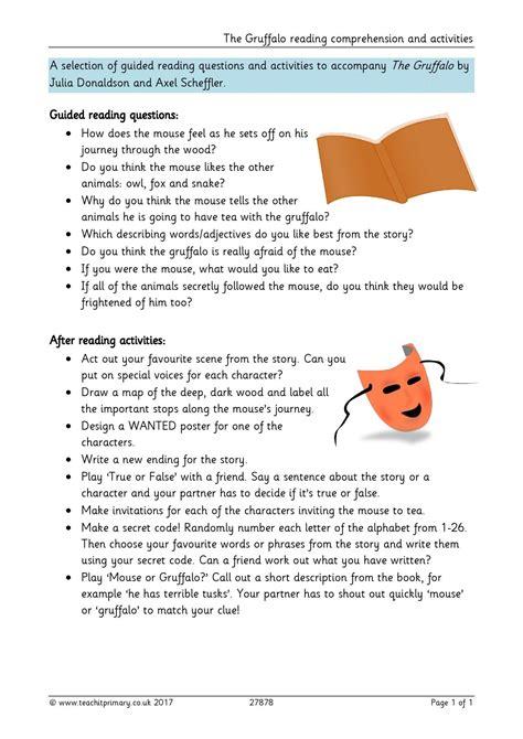 the gruffalo worksheets ks1 goodsnyc