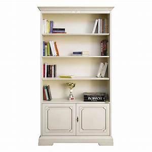 meubles bibliotheques biblioth que tv en bois massif With maison du monde meuble tv 0 meuble bibliothaque tv ivoire passy maisons du monde