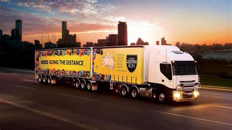 Iveco Road Train Sunset Trucks Wallpaper