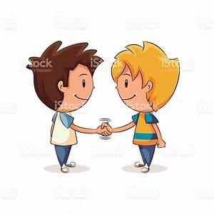 Handshake Kids stock vector art 517852414 | iStock